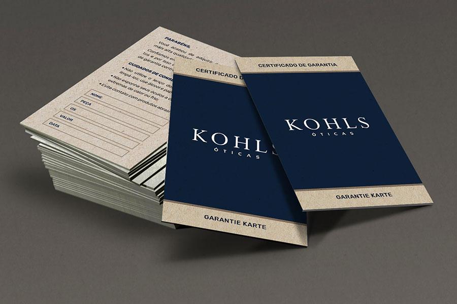 Certificado de Garantia Kohls
