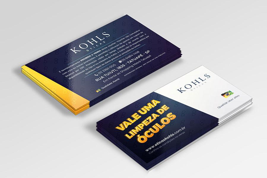 Cartão Ganhe uma Limpeza de Lentes - Kohls